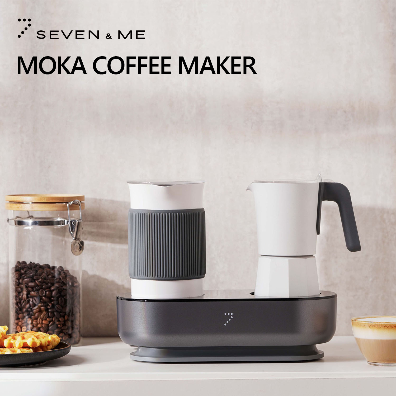 Кофеварка Youpin SEVEN & ME Moka Pro для дома 2 в 1, маленькая причудливая мини кофеварка, простой вспениватель молока, капучино, МОККА