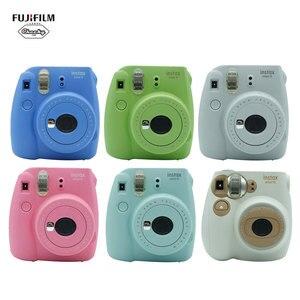 New Year Best Gift Fujifilm INSTAX Mini 9 Mini7C Instant Camera Film Photo Camera + 10 Sheets Fujifilm Instax Mini 8 9 Film