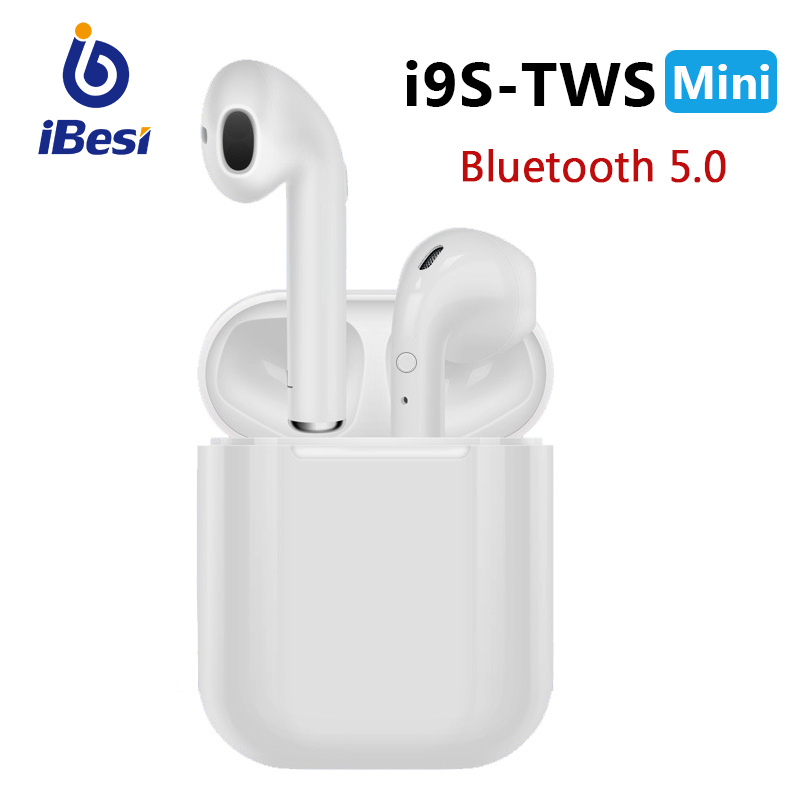 IBESI I9s TWS Mini Bluetooth Earphone Headphones Bluetooth 5.0 Stereo Wireless Headset Earbuds With Charging Box For Smart Phone