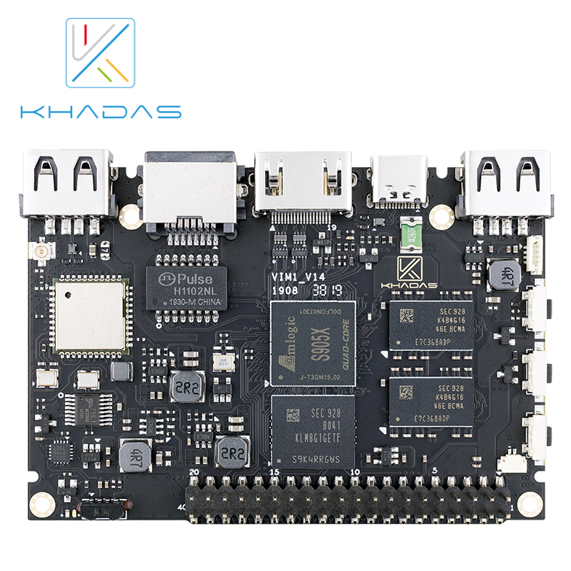 Khadas VIM1 Basic Demo Board Amlogic S905X Quad Core ARM 64bit Cortex-A53 WiFi AP6212 SBC