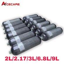 Acecare Pcp Air Tank Paintball 2L/2.17L/3L/6.8L/9L 4500psi Scuba Tank Hpa Pcp Condor Airforce Air Rifle Pellets Co2 Airsoft Gun