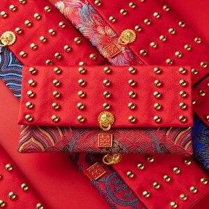 Para o festival de casamento crianças presente ano novo estilo chinês brocado moeda bolsa bolsa jóias presentes saco bordado organizadores bolso