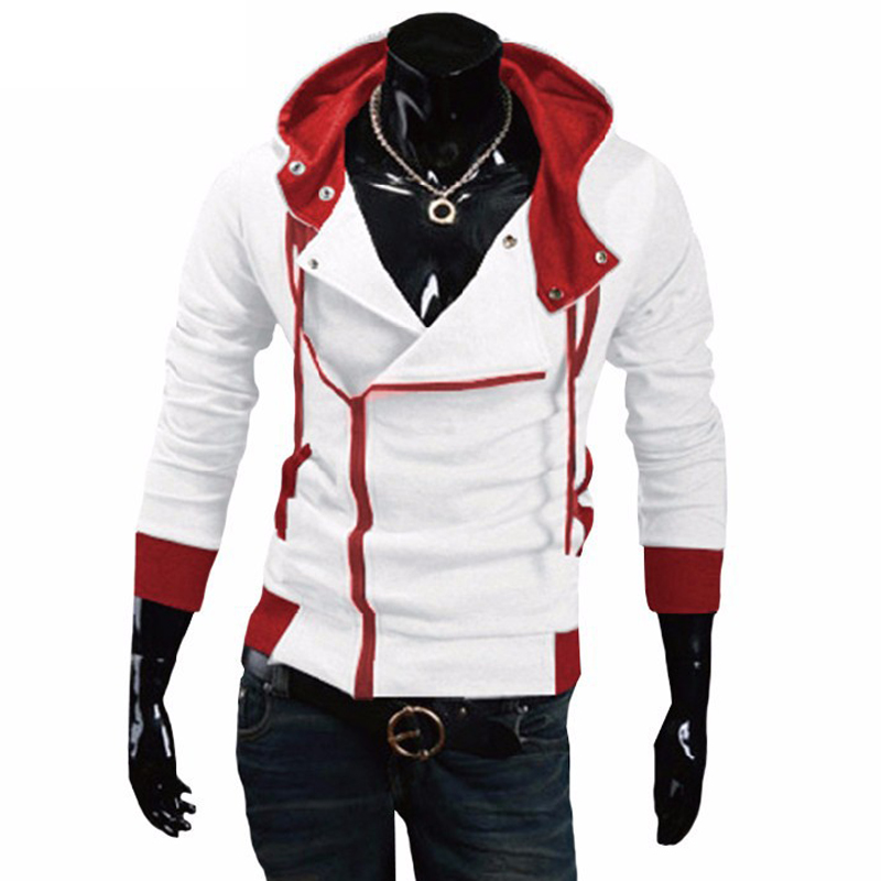 TANGYAXUAN 2019 Side Zipper Patchwork Hoodies Men Casual Assasins Creed Clothing Mens Hoodies And Sweatshirts Sudadera Hombre