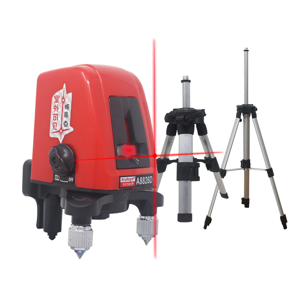 A8826D Cross Lines Laser Level 2 Line Red Beam Self-Leveling Laser Level Vertical  amp  Horizontal Tripod For Laser Level Meter Tool