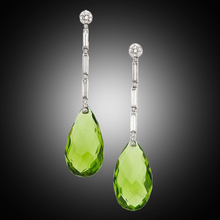 Elegant Long Drop Earrings For Women Silver Color Water Drop Green Stone Earring Engagement Jewelry Pendientes Mujer P5Q909 long water drop gold silver earrings 2019 party color leaf stud earrings wedding engagement delica friendship jewelry pendientes