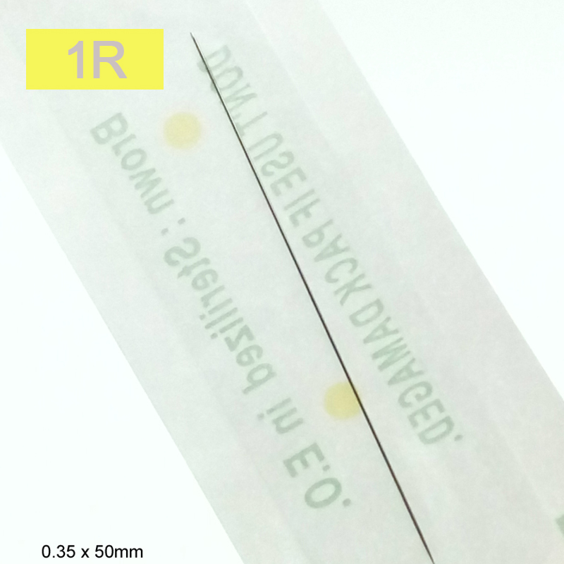 100pcs 1RL Tattoo Needle Sterilized Disposable For Tattoo Machine Pen Permanent Makeup Machine Giant Sun Tattoo Supplies