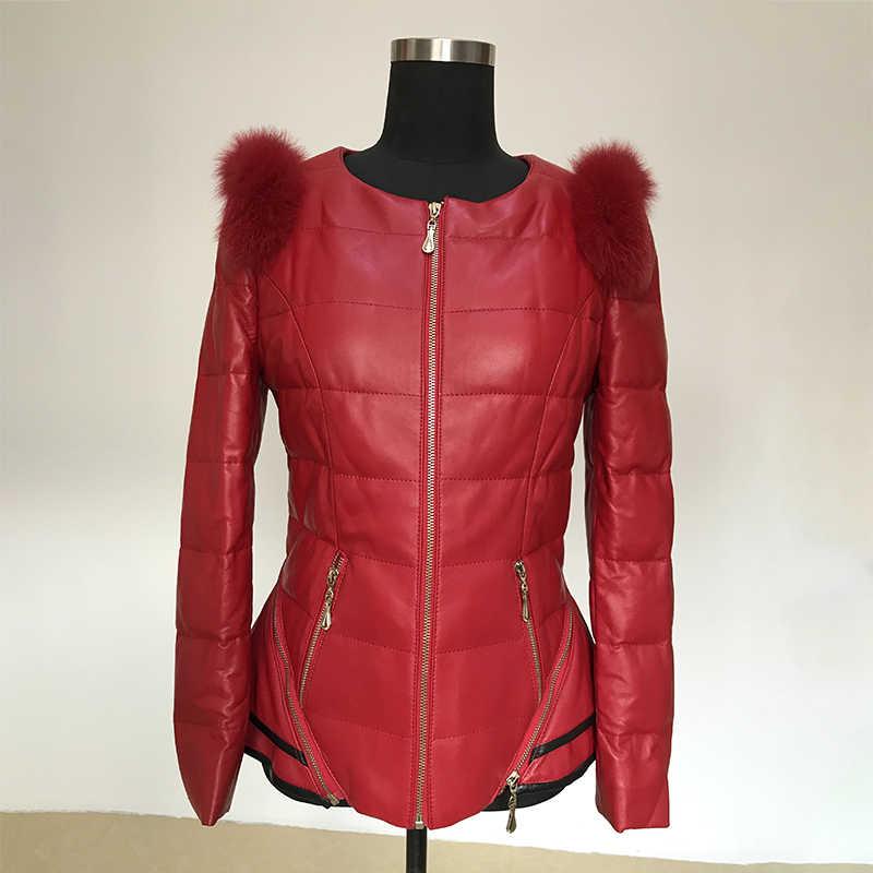 가을 겨울 진짜 정품 가죽 자켓 여성 의류 2020 한국어 빈티지 폭스 모피 양모 코트 streetwear 탑스 zt3359