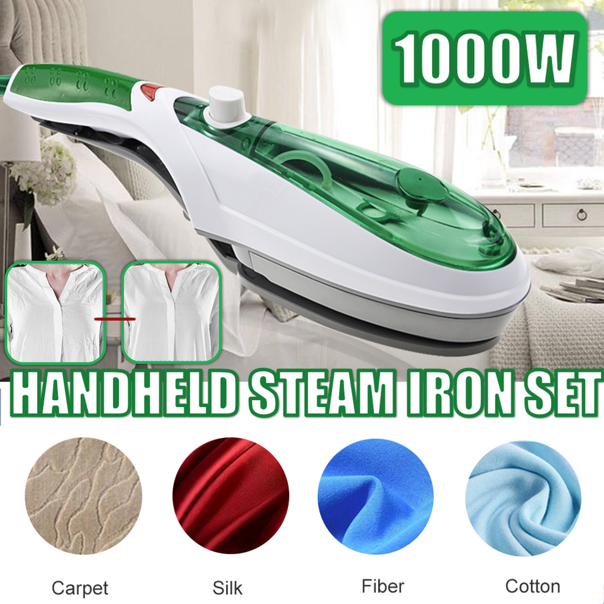 1000W Handheld Garment Steamer Brush Portable Steam Iron For Clothes Generator Ironing Steamer For Underwear Steamer Iron