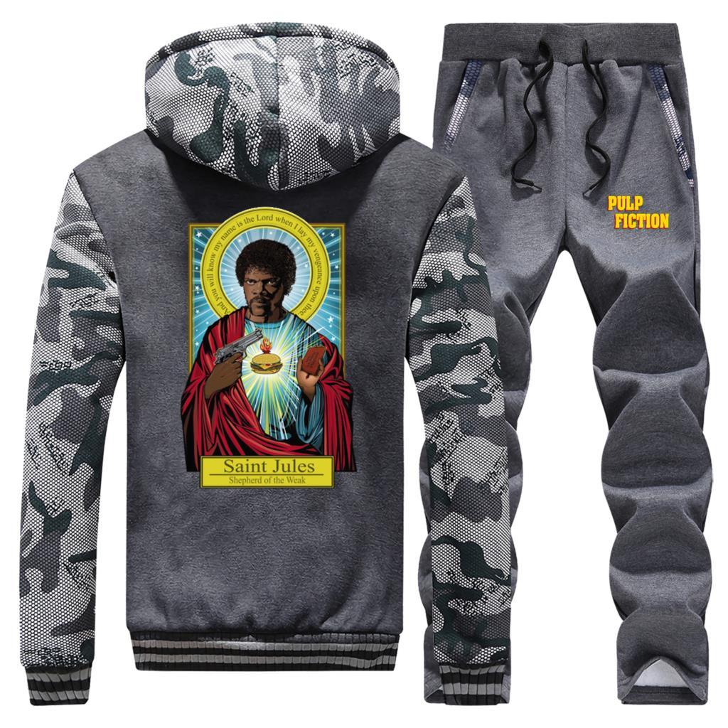 Catholicism Freddie Mercury Men's Sports Suit 2020 Winter Thick Sportswear Men Motorcycle Street Brand Clothes Warm Hoodie Pants