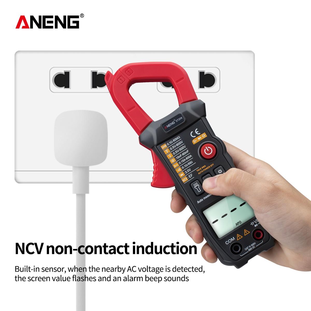 Image 3 - ANENG ST208 Digital Clamp Meter Multimeter Car 6000 counts AC/DC Current Measure Transistor Tester Voltimetro AmperimetroMultimeters   -