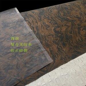 Image 4 - Placage de bois technique noyer noir ronce racine placage dingénierie E.V. 62x250cm Tissu Support