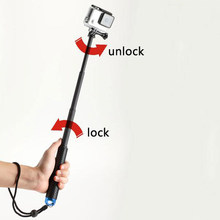 Unfolded(480mm) Pole Extendable Waterproof Tripod Selfie Stick Handheld Monopod Dive For GoPro Hero 4 3+ 3 2 SJ4000 for Xiao Yi(China)