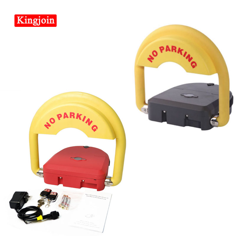 Rustproof And Durable Battery Operated Smart Parking Lock Grey & Red Appearance Optional Place An Order And Send 1 Mask