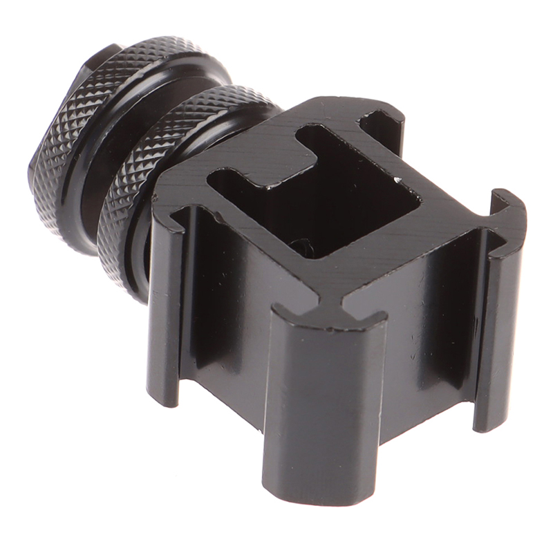 Three Head Extend Port Connect Microphone On Camera Mount Hot Shoe Base Set Set Smooth Adapter For Video Light