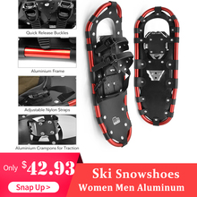 New Snowshoes Women Men Aluminum Snow Shoes Women Shoes Ski Boots Adjustable Bindings Carrying Tote Bag Outdoor Winter Snowshoes