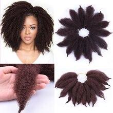 8 дюймов вязаные крючком волосы marley мягкие афро кудрявые
