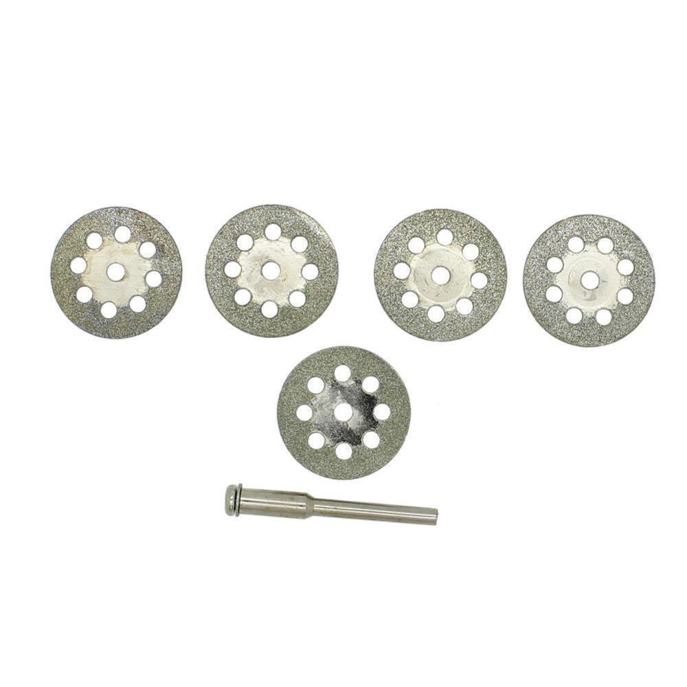 6pcs/lot 22mm Diamond Coated Saw Blade Rotary Cutting Cut Off Blade Wheels Disc Kits For Cutting Glass Stone Plastic Wood