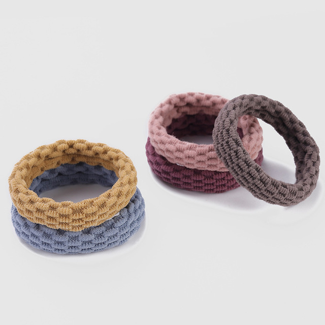 10PCS Women Girls Simple Basic Elastic Hair Bands Ties Scrunchie Ponytail Holder Rubber Bands Fashion Headband Hair Accessories 5