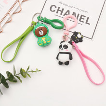 Panda Little Bear Keychain Lovely Women Pendents Keyring Cartoon Charm Gifts PVC Key Chain