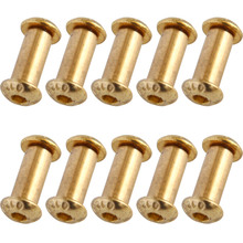 10pcs/lot Brass Fastener DIY Knife Handle Screws Rivet YFS Hexagon Head Cap Screws