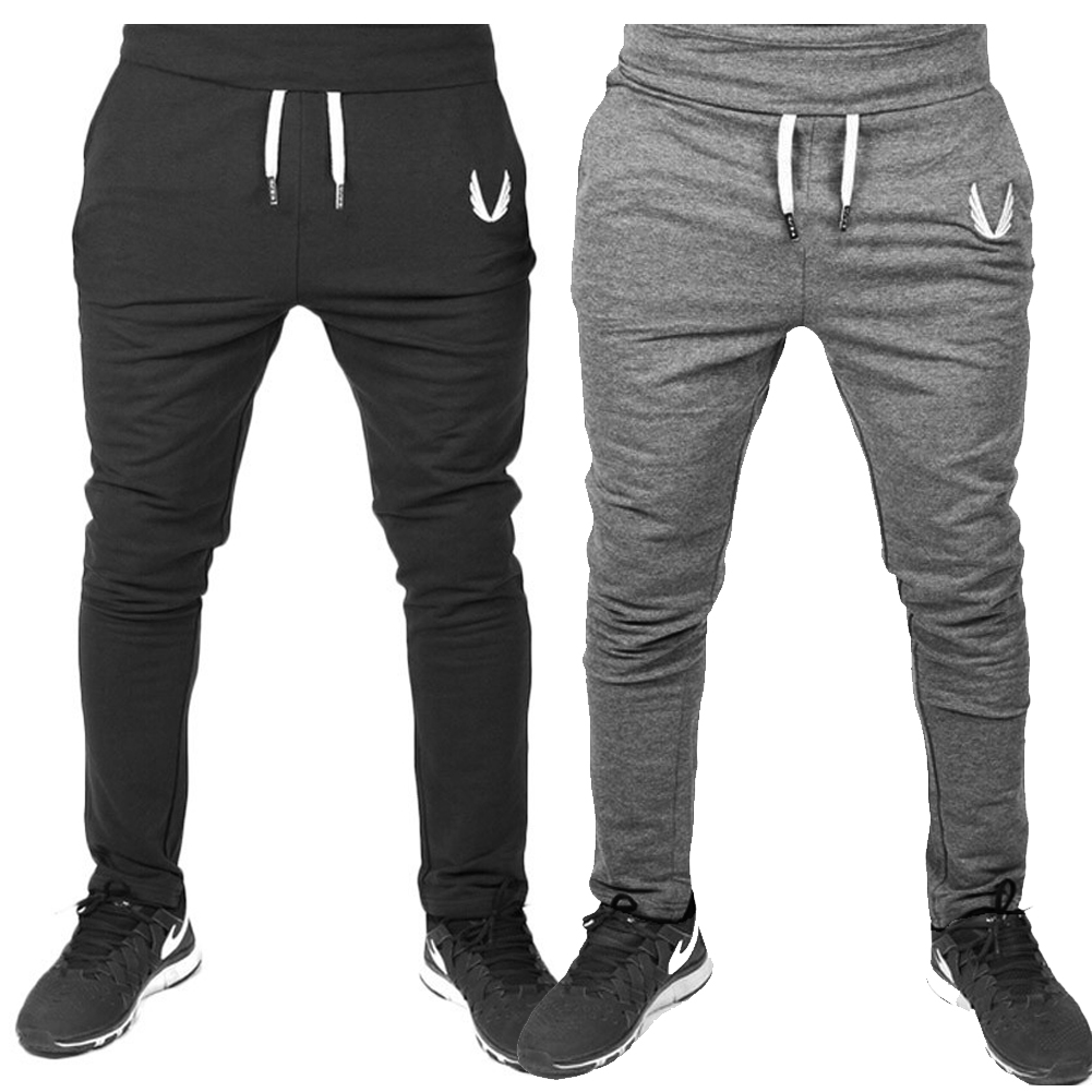 Mens Pants with Pockets Casual Sports Running Elasticity Legging Gym Trousers Training Trousers Jogging Pant Fitness Trousers