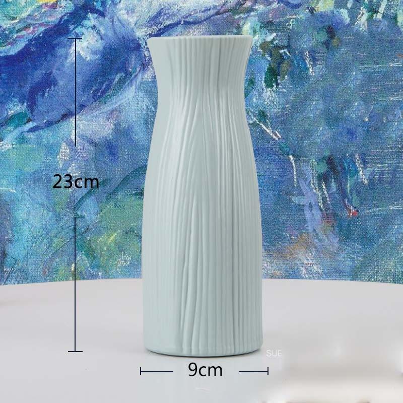 Оригами пластиковая ваза молочно-белая имитация керамического цветочного горшка Цветочная корзина Цветочная ваза для украшения интерьера скандинавские украшения - Цвет: 3503-Green