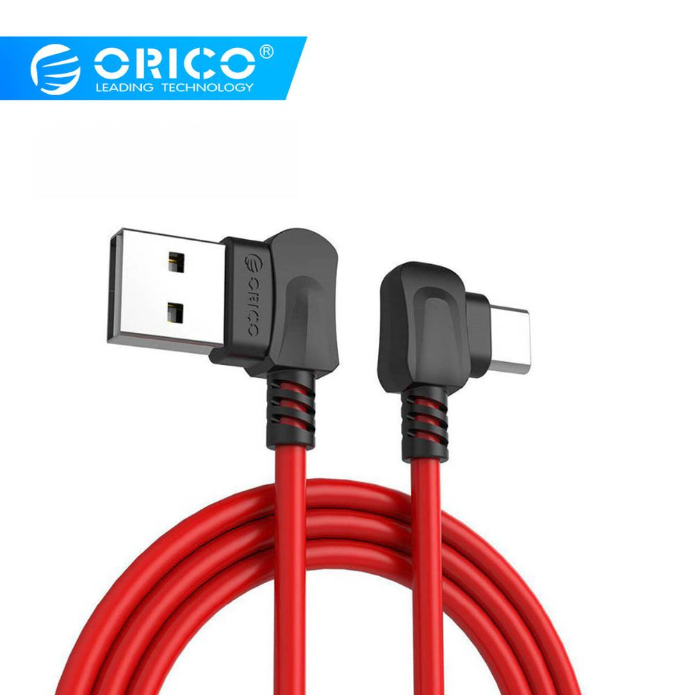 ORICO Right angled Bending for USB TYPE C Phones USB Charging Cable For Samsung Galaxy S8 Note 8, OnePlus 2, for Xiaomi 4C USB C cable for charging cable for samsung cable for samsung - AliExpress