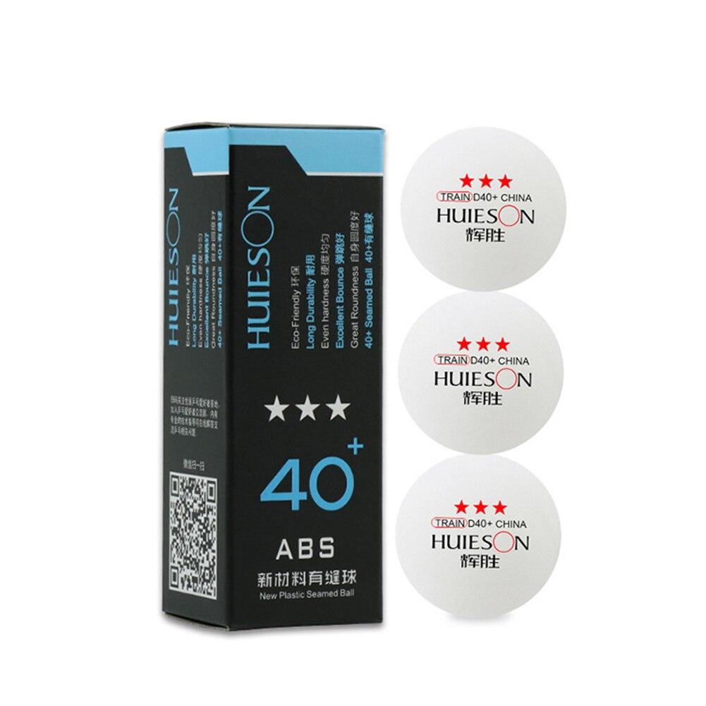Nouvellement 3 pièces balles de ping-pong accessoires professionnels de Tennis de Table ABS pour les Sports d'entraînement FIF66