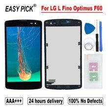 ل LG L فينو أوبتيموس F60 D392 D390N D290 LS660 VS810 D290G D290AR D290N D295 D295F LCD عرض تعمل باللمس الجمعية محول الأرقام