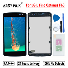 LG L Fino Optimus F60 D392 D390N D290 LS660 VS810 D290G D290AR D290N D295 D295F LCD 디스플레이 터치 스크린 디지타이저 어셈블리