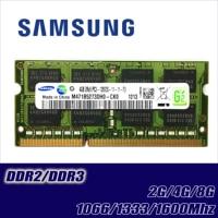 Samsung 2GB 4GB 8GB 2G 4G PC2 PC3 DDR2 DDR3 667Mhz 800Mhz 1333hz 1600Mhz 5300S 6400 8500 10600 ECC Laptop memory notebook RAM 1