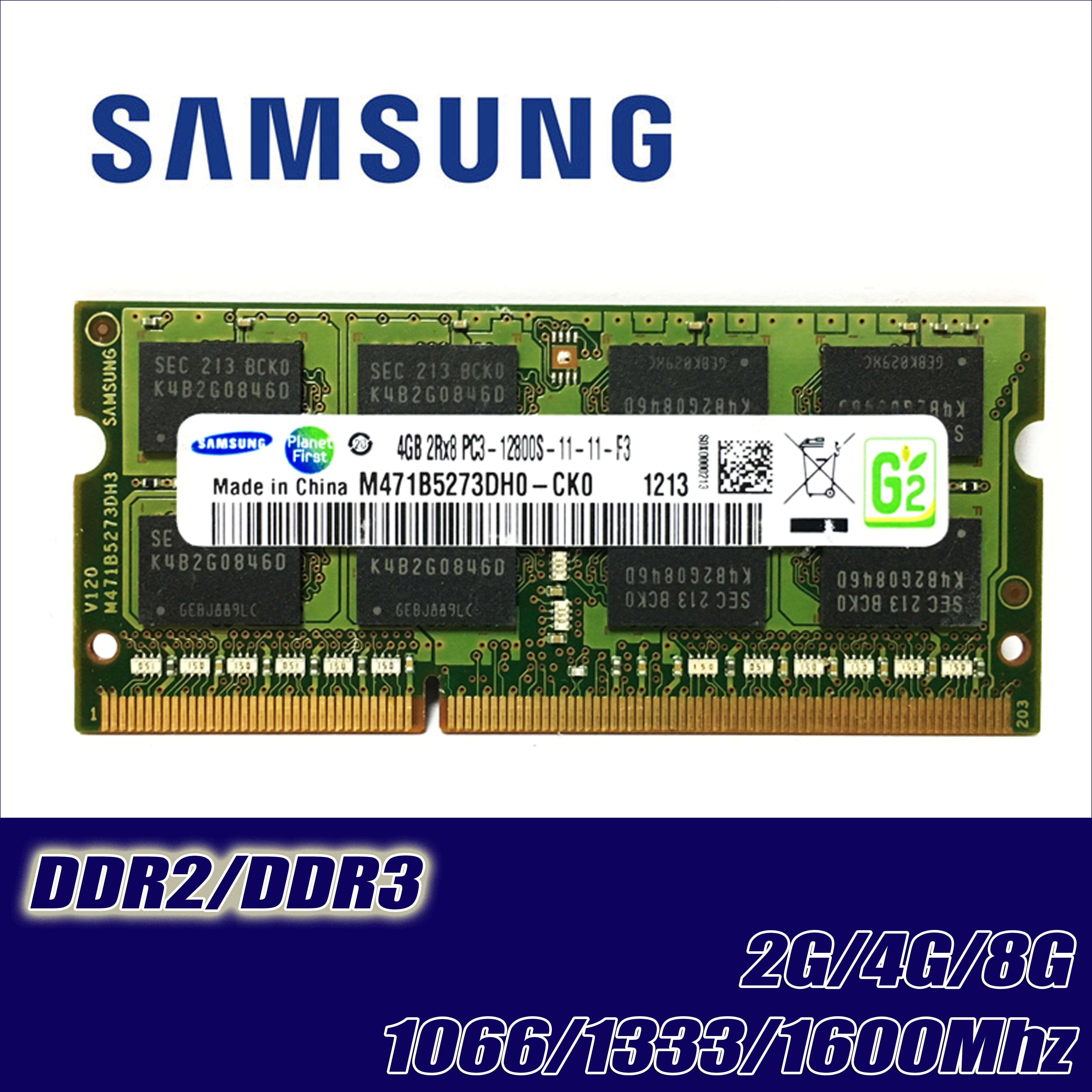 Samsung GB 4GB GB 2 8 2G 4G PC2 PC3 DDR2 DDR3 667Mhz 800Mhz 1333hz 1600Mhz 5300S 6400 8500 10600 Laptop notebook memória RAM ECC