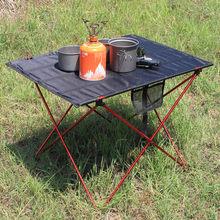 Stolik na zewnątrz przenośne składane meble kempingowe stoły komputerowe piknik rozmiar S L 6061 Al kolor światła antypoślizgowe składane biurko tanie tanio Metal Aluminium Minimalistyczny nowoczesny Montaż Prostokąt 56*43*37cm Na zewnątrz tabeli Meble ogrodowe Camping Table