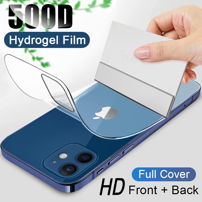 Pellicola idrogel a copertura totale 500D per iPhone 11 12 Pro MAX mini pellicola salvaschermo per iPhone 7 8 6s 6 Plus SE 2020 XR X XS non in vetro