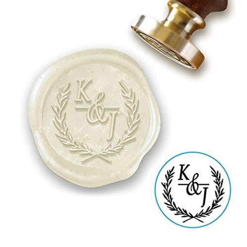 Custom With Initials Sealing Stamp with Olive branchCustom Wedding Wax StampInvitation Sealing Wax StampCustom Wax Seal Kit