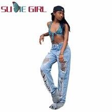 Сексуальные джинсовые брюки sudie girl с вырезами и пуговицами