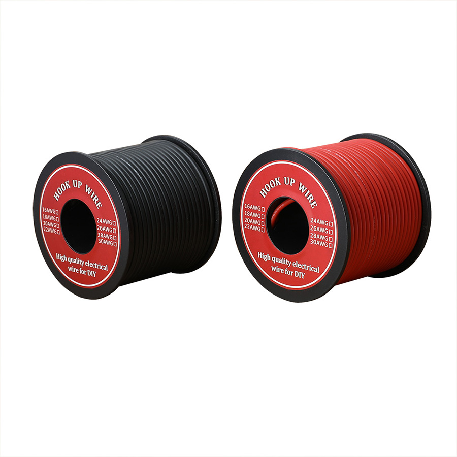 25m/Roll 16 <font><b>AWG</b></font> Stranded <font><b>Wire</b></font> Hook-up Flexible Silicone Electrical <font><b>Wire</b></font> Rubber Insulated Tinned Copper 3KV Safe Current 12.7A image