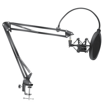 Microphone Scissor Arm Stand Bm800 Holder Tripod Microphone Stand F2 With A Spider Cantilever Bracket Universal Shock Mount 1
