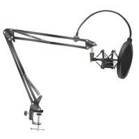 Microfone scissor braço suporte bm800 titular tripé microfone suporte com uma aranha cantilever universal choque montar