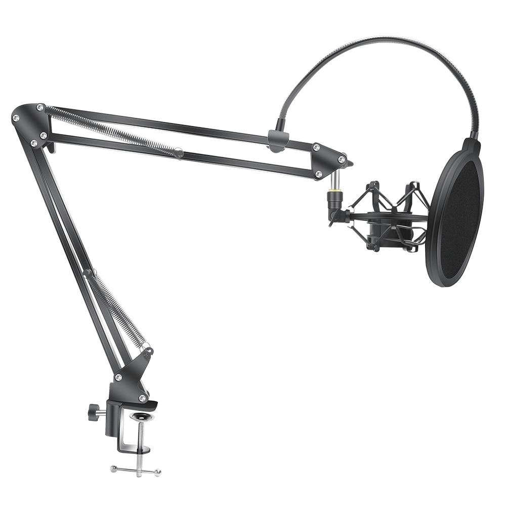 Подставка для микрофона с ножницами и держателем Bm800, подставка для микрофона F2 с кронштейном-пауком, универсальное амортизирующее креплен...