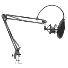 Microfone scissor braço suporte bm800 titular tripé microfone suporte f2 com uma aranha cantilever suporte universal montagem em choque