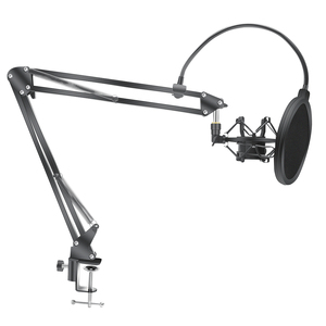Image 1 - Microphone Scissor Arm Stand Bm800 Holder Tripod Microphone Stand F2 With A Spider Cantilever Bracket Universal Shock Mount