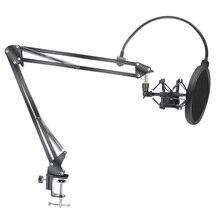 Mikrofon makas kol standı Bm800 tutucu Tripod mikrofon standı F2 bir örümcek ile konsol braketi evrensel şok dağı