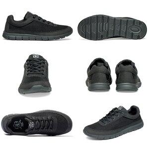 Image 5 - أحذية ذكية عادية للرجال واسعة تنفس أحذية رياضية حذاء رجالي خفيفة الوزن رجل أسود المشي الأحذية موضة حذاء رجالي كاجوال