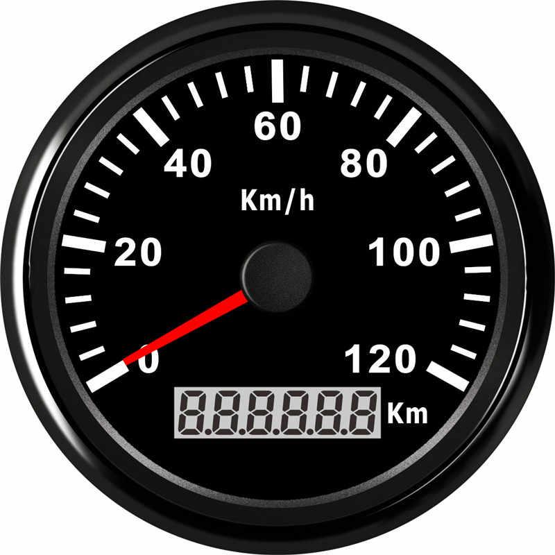 85 Mm 120KMH GPS Đo Tốc Độ Đồng Hồ Đo Chống Nước IP67 Đo Đồng Hồ 316L Ốp Viền 12V 24V Phù Hợp Với Cho Mềm Thuyền xe Có Đèn Nền