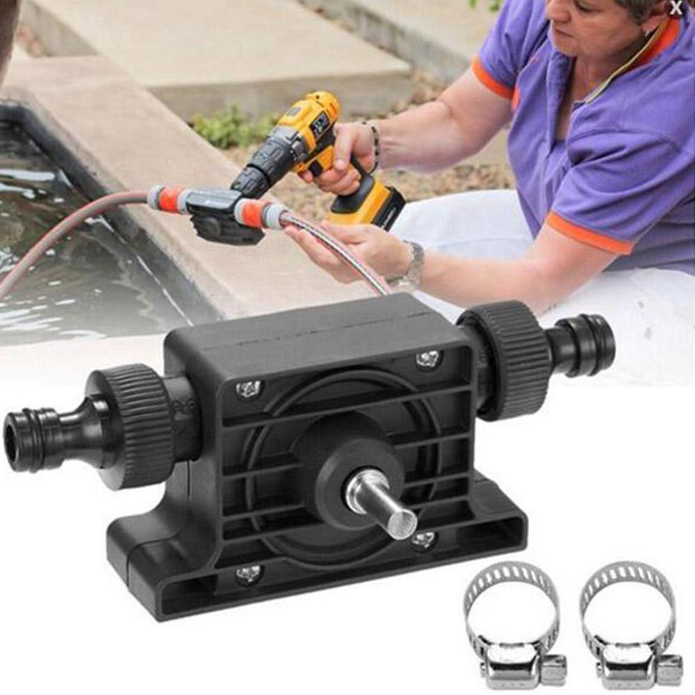 Electric Drill Pump Self Priming Transfer Pumps Oil Fluid Water Pump Portable 8mm Round Shank Heavy Duty Self-Priming Hand