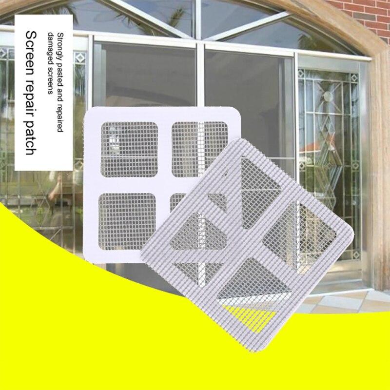 3 шт. Fix Net Window домашний клей анти комары мухи Жук Насекомое Ремонт экрана стены патч наклейки сетки окна двери экран белый P
