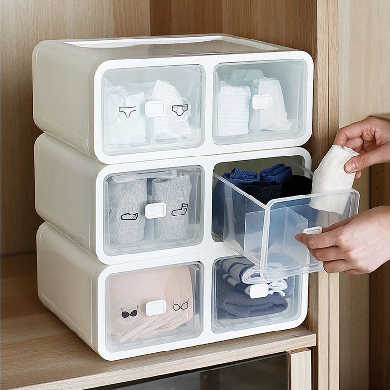 1 Grid / 12 Grid / 16 Grid Underwear Storage Box Bra Socks Underwear Storage Box Plastic PP Home Drawer Household Storage Tools