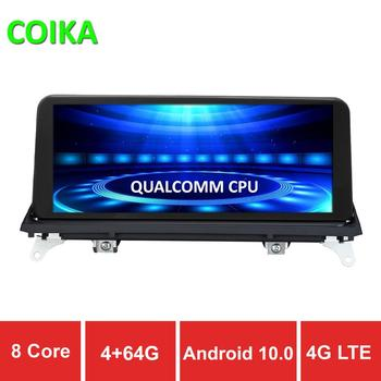 COIKA 8 Core Android 10.0 System Car GPS Navi Receiver For BMW E70 E71 09-13Y 4+64GB RAM WIFI 4G BT Stereo IPS Touch Screen SWC