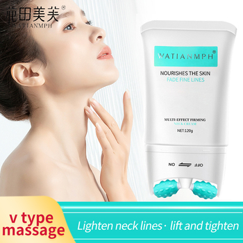 WATIANMPH 120g Firming Neck Cream V-Type Massager Neck Cream Skin Care Anti Wrinkle Remove Fine Lines Lifting Firming Cream filorga iso structure absolute firming cream